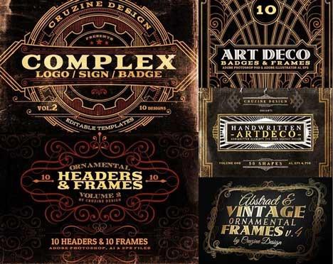 Designer Vintage Retro Graphic Kit