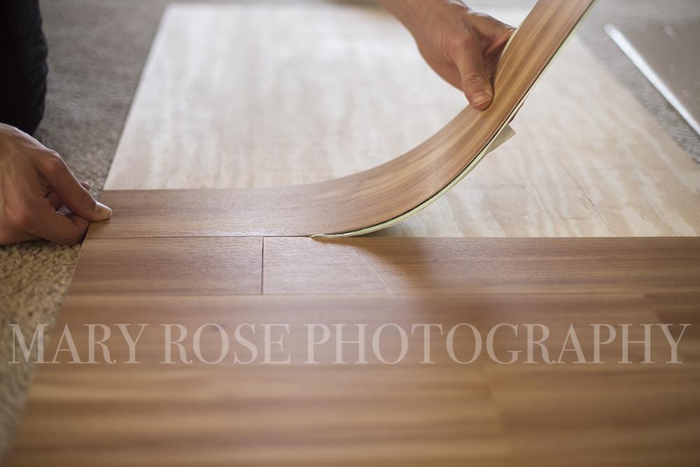 DIY Photography Backdrop Wood Floor