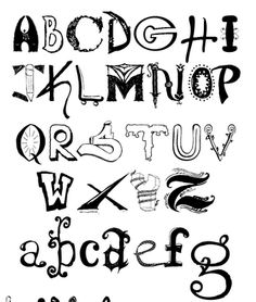 Easy And Cool Fonts Alphabet
