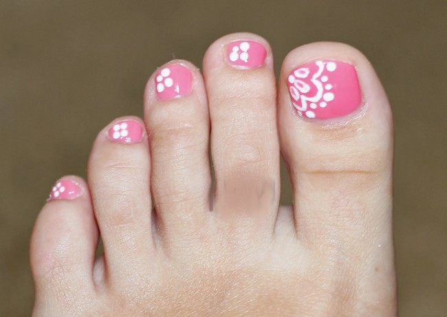 Easy Toe Nail Art Designs