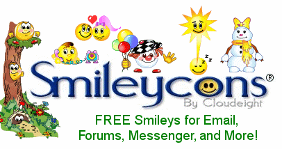 7 Glitter Smiley Free Emoticons For Emails Images