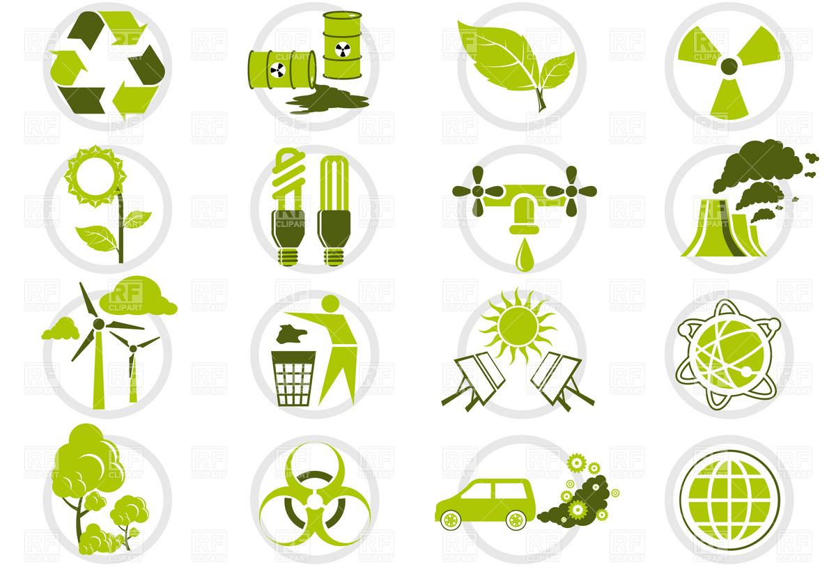 Energy Conservation Clip ArtIcons