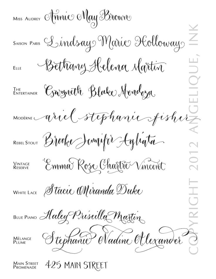 15 Hand Calligraphy Font Images Free Modern Calligraphy