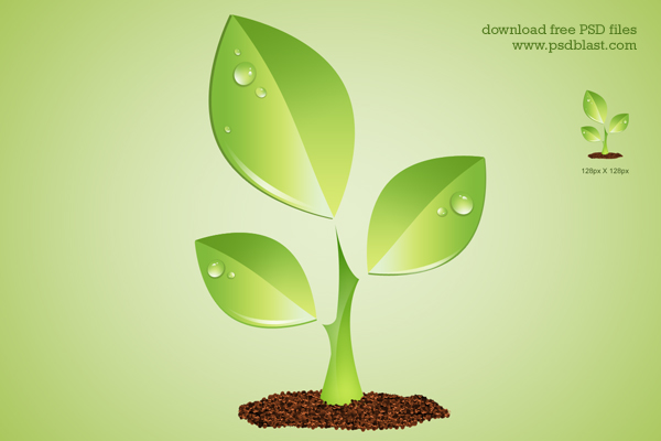 12 Environmental Green Plant Icon Images