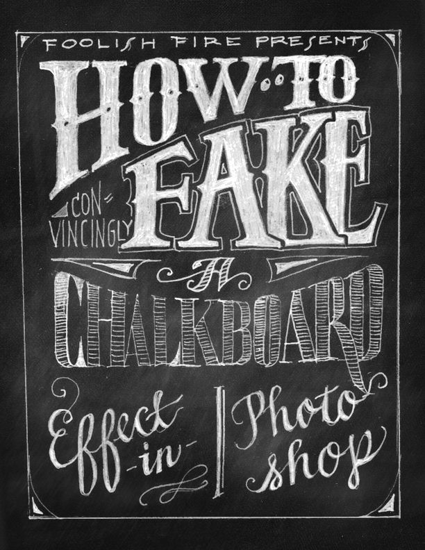 Fake Chalkboard Effect Photoshop