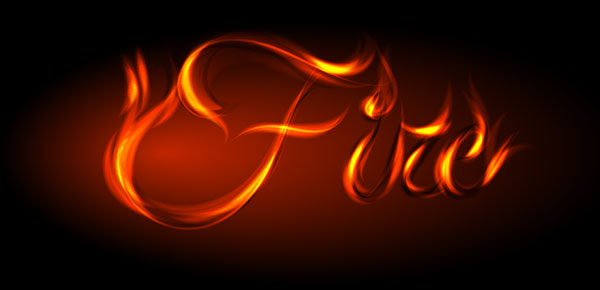 Fire Flames Letters Fonts