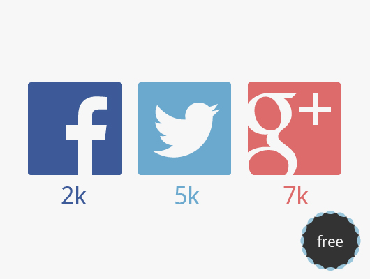 Flat Vector Icons Social Networks