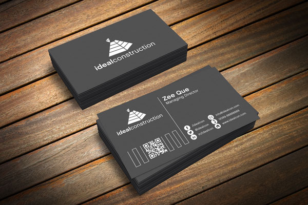8 Black White Business Card PSD Images