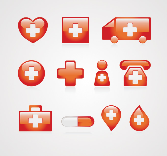 Free Medical Icons Vector Set