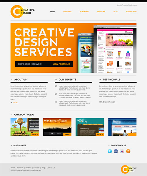 20 Free PSD Website Templates 2013 Images