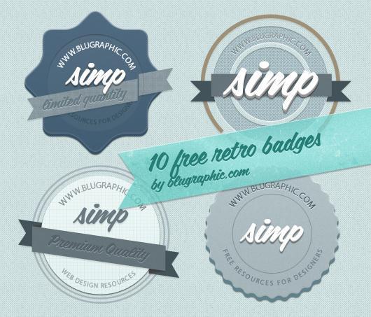 Free Retro Badges PSD