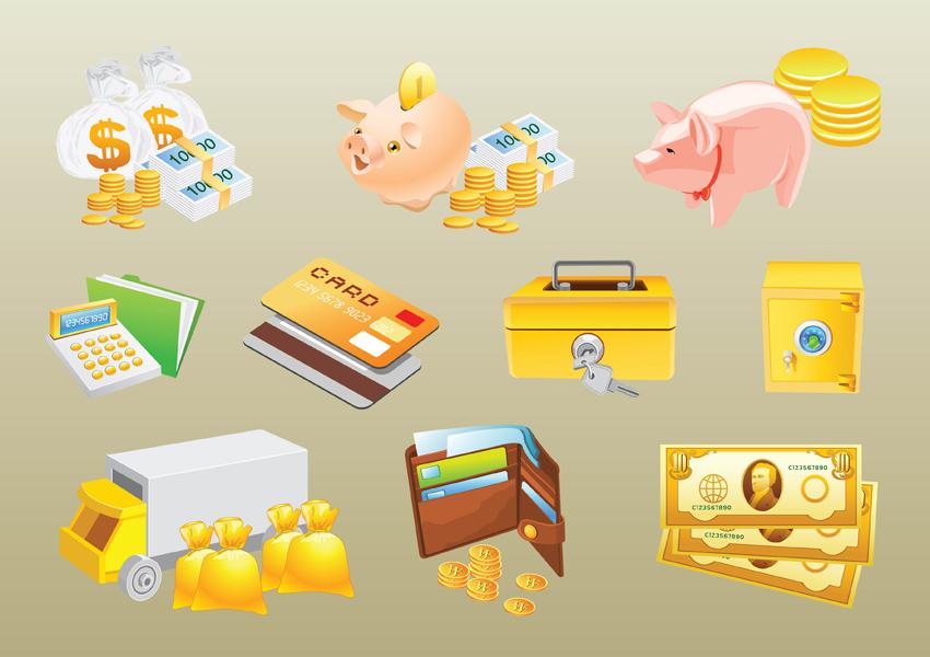 15 Cash Money Vector Images
