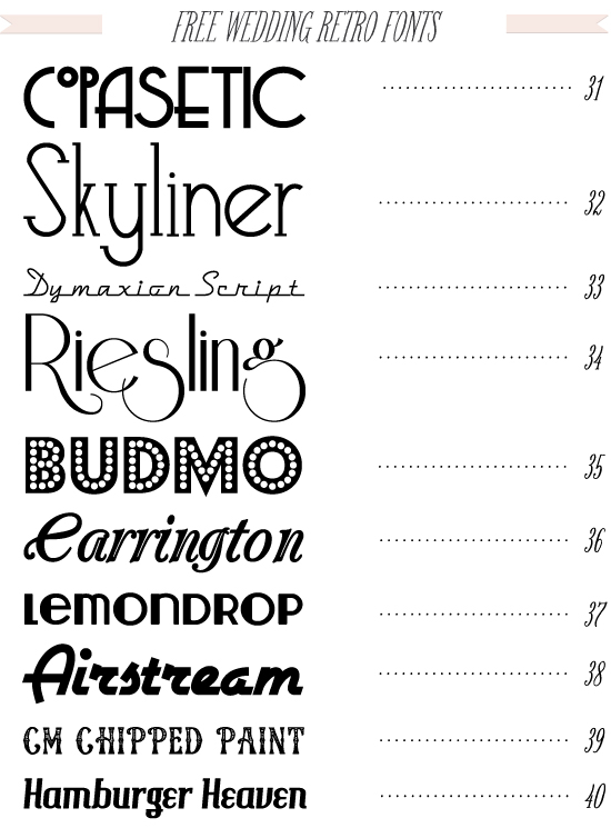 14 Printable Retro Fonts Images