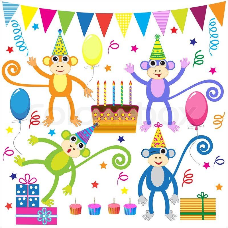 Funny Happy Birthday Cartoon Monkey