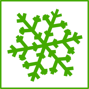 Green Snowflake Clip Art