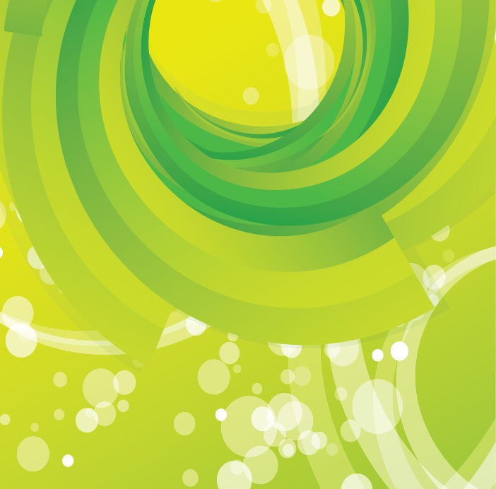 Green Swirl Background Vector Free