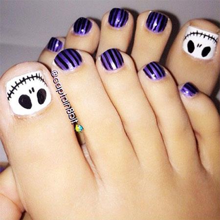 Halloween Toe Nail Design