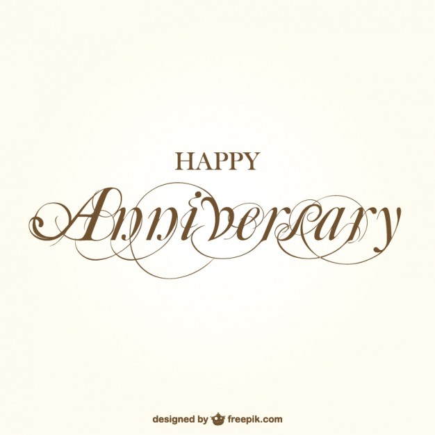 Happy Anniversary Calligraphy