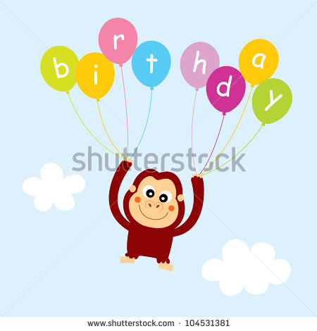 Happy Birthday Cartoon Monkey