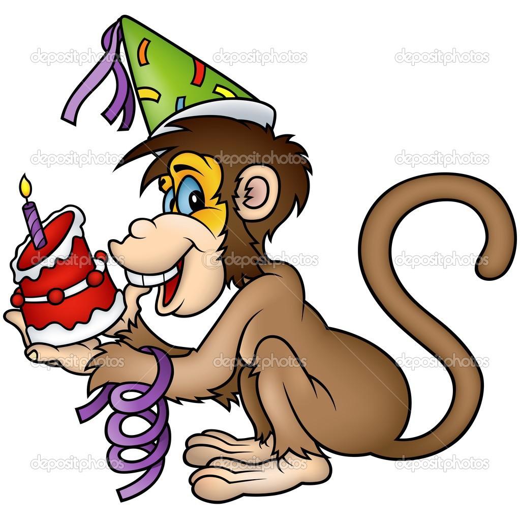 Happy Birthday Monkey Clip Art