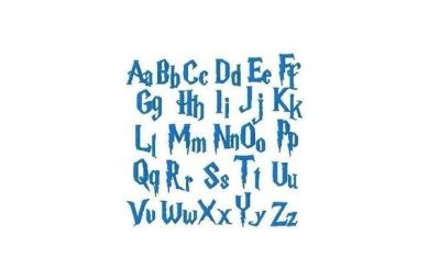 10 Harry Potter Embroidery Font Images