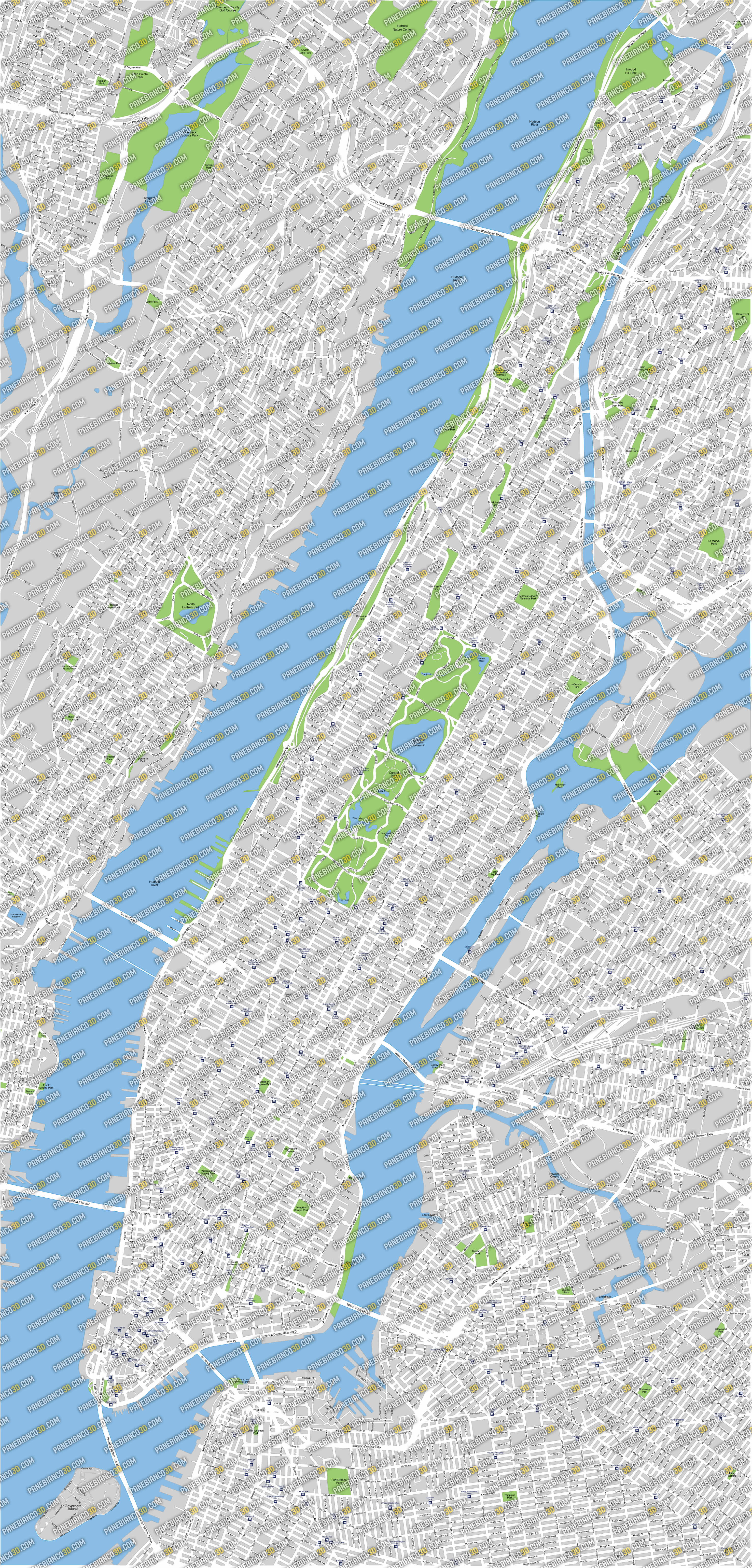 High Resolution Maps New York City