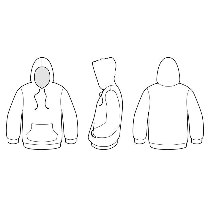 15 hoodie template back images black blank hoodie