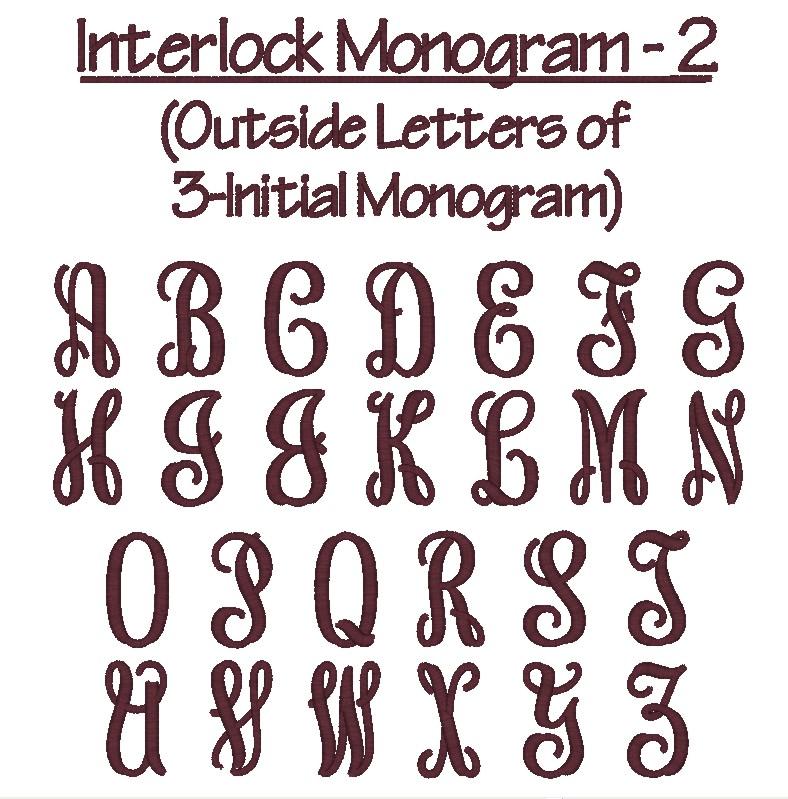 Vine monogram truetype font images interlocking