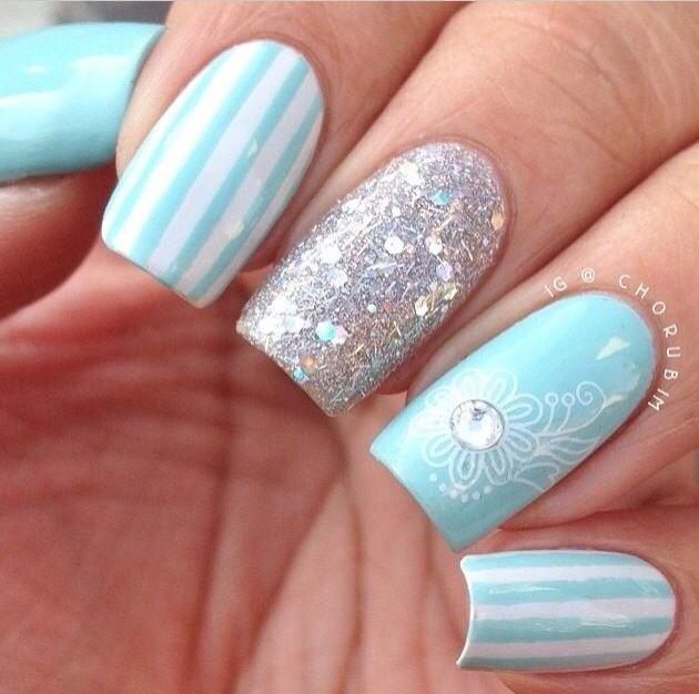 11 Light Blue Nail Designs Images