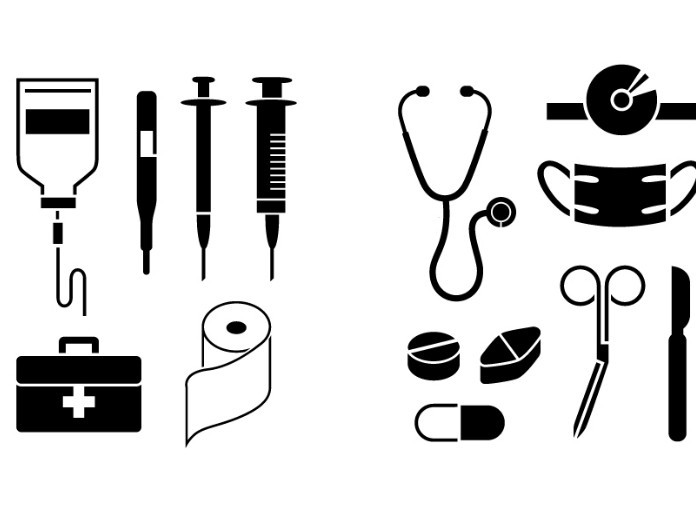 Medical Icons Vector Black