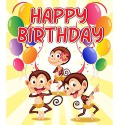 Monkey Birthday Card Bikini