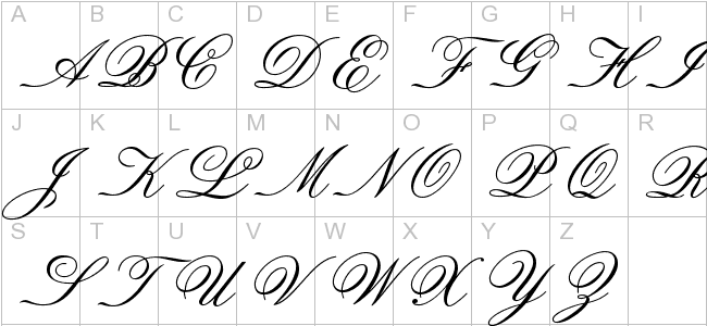 Old Fashioned Handwriting Alphabet 29