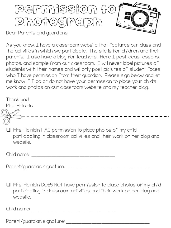 Permission Form Clip Art