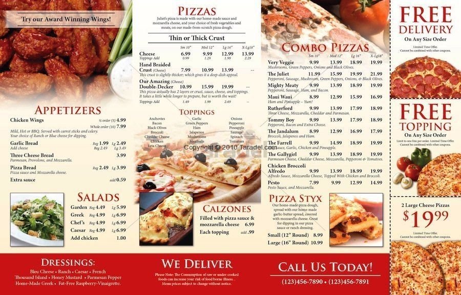 11 Pizza Menu Design Images - Best Pizza Menu Design, Pizza