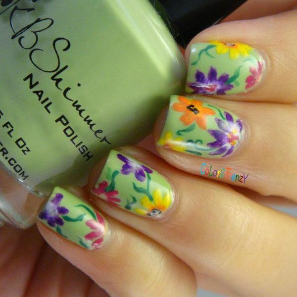 Pretty Floral Nail Designs