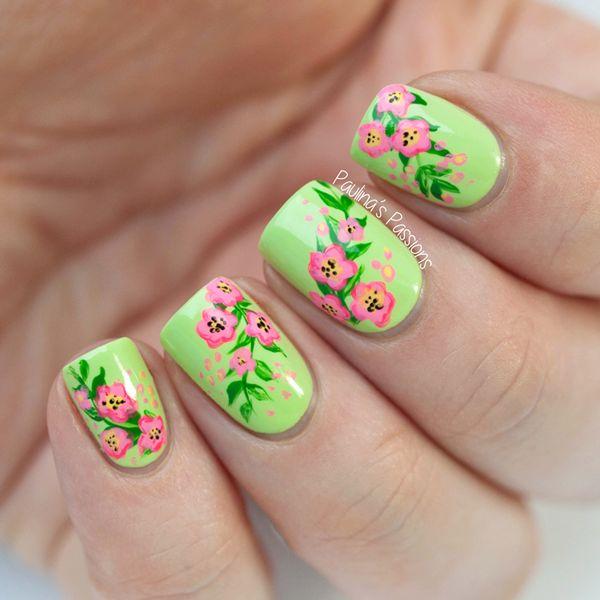Pretty Green Nail Designs