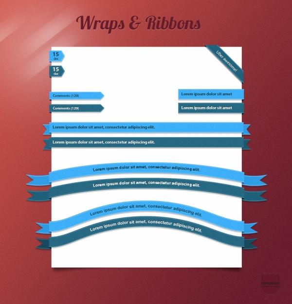 PSD Ribbon Wrap