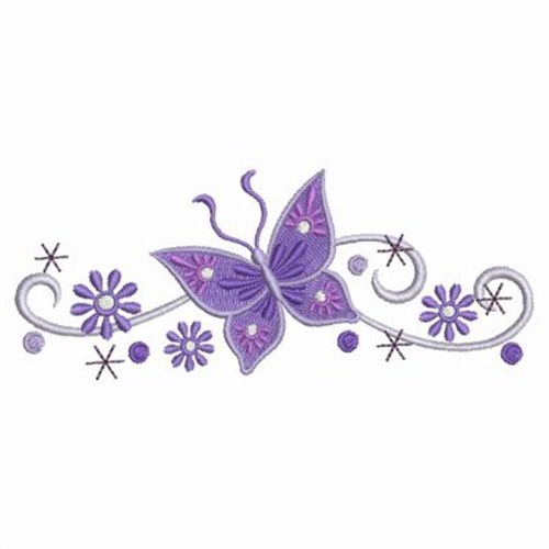 Post_purple Butterfly Corner Border Designs_329359 on Swirl Border Pattern