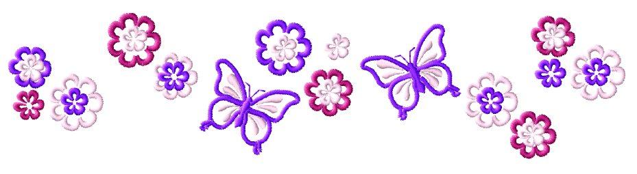 Purple Butterfly Border