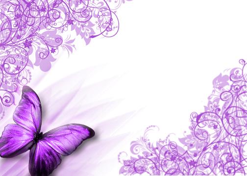 Purple Butterfly Borders Free
