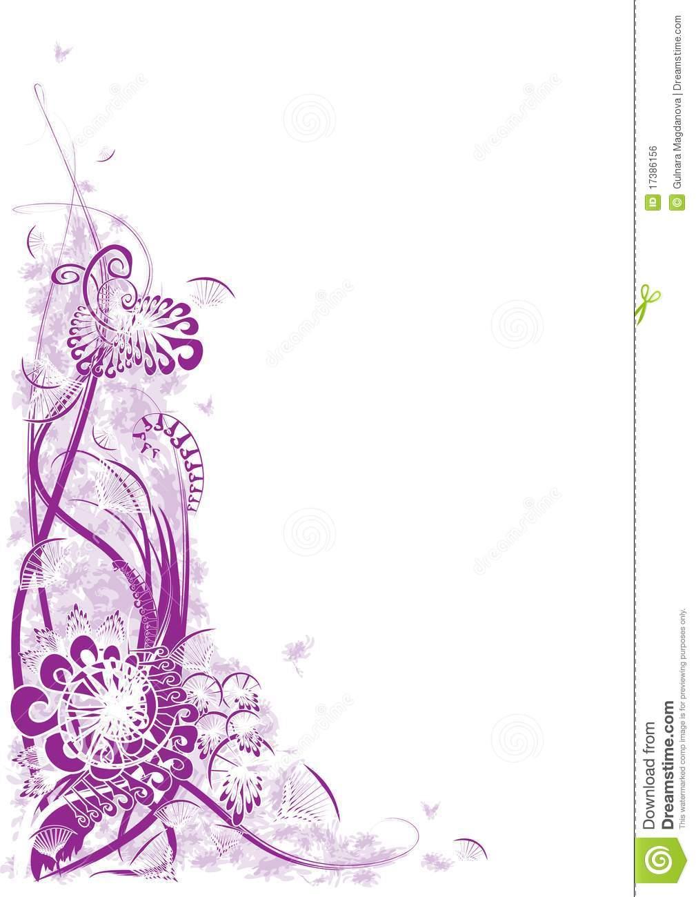 Purple Corner Border Designs