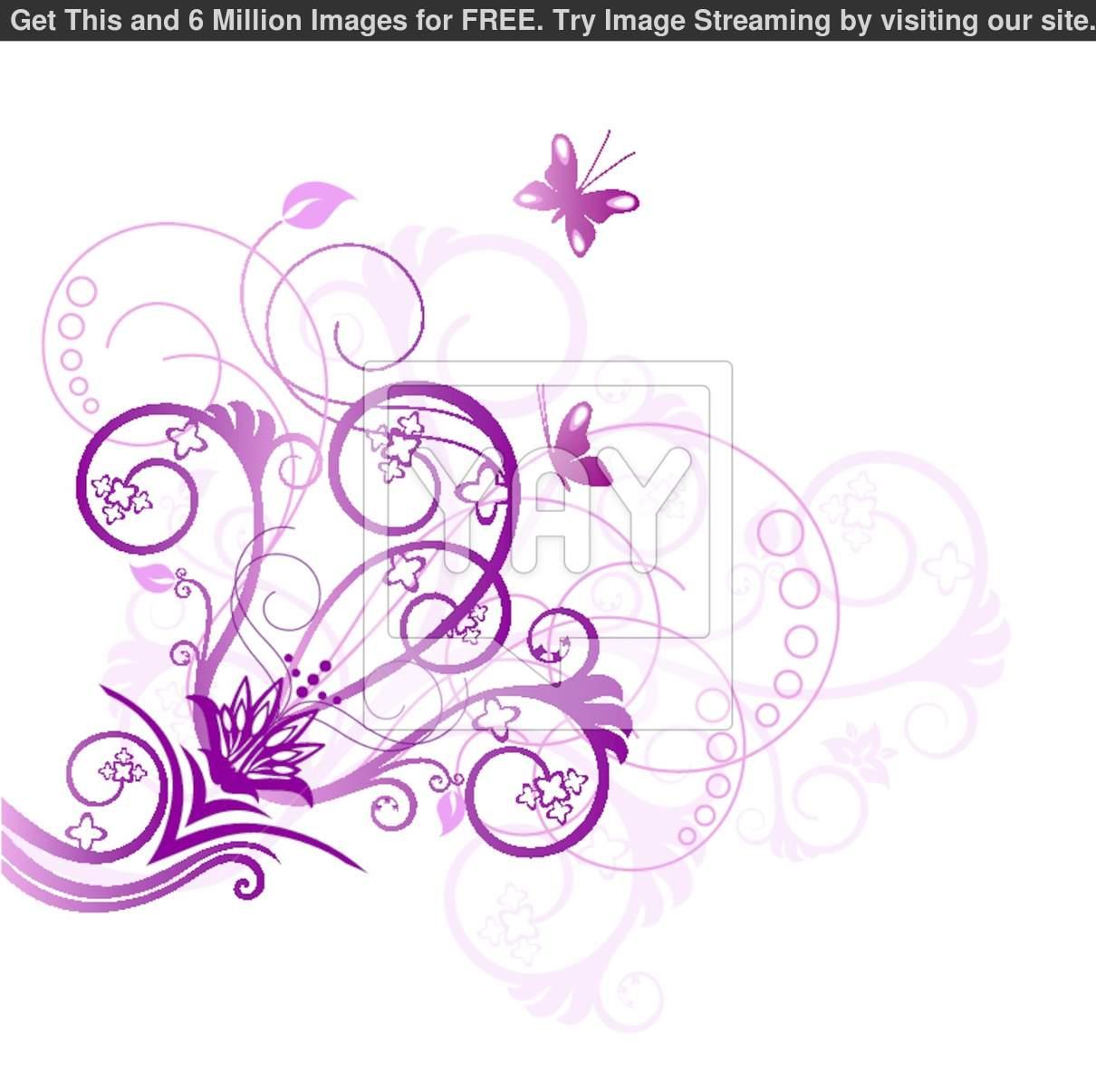 Purple Flower Corner Designs