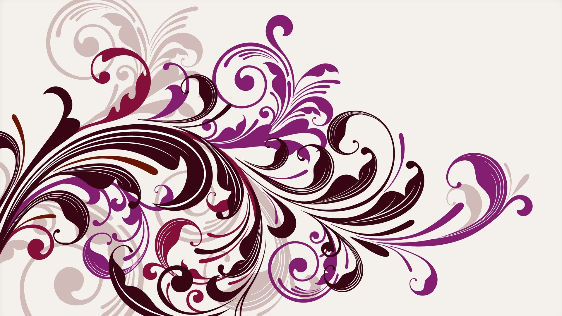 Purple Swirl Vector Graphics