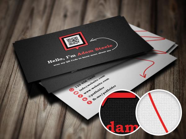 12 QR Card PSD Images