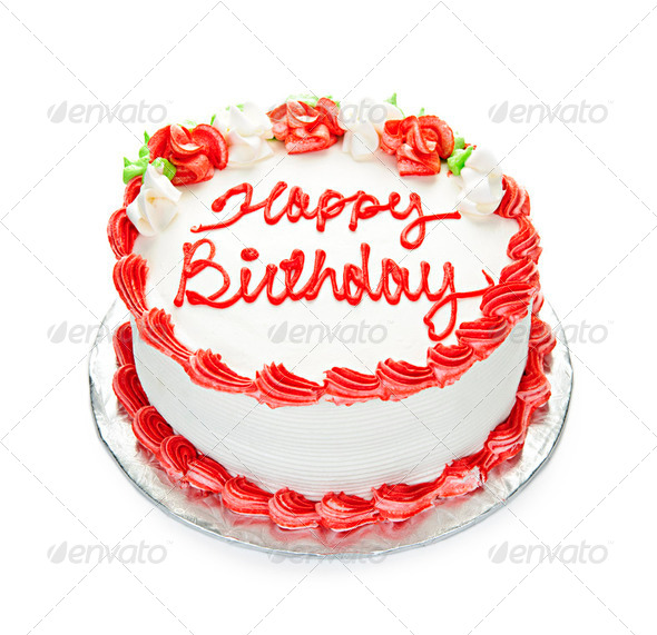 Red Birthday Cake Clip Art