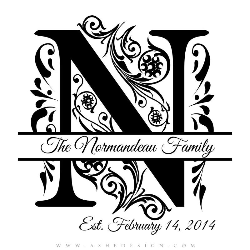 Elegant Split Monogram Font Free