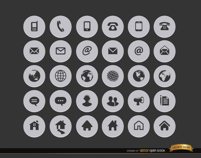 12 contact icons for resume images