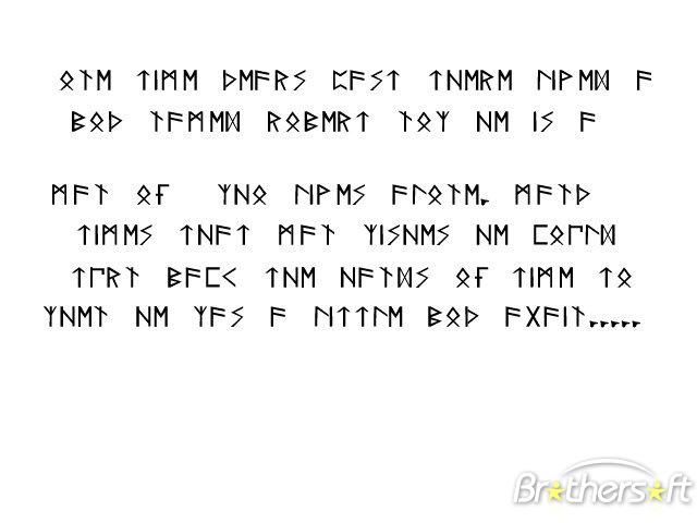 Rune Alphabet Font