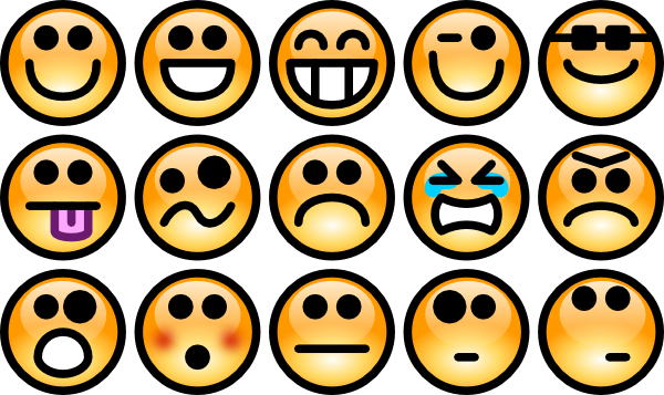 Smiley-Face Emotions Clip Art