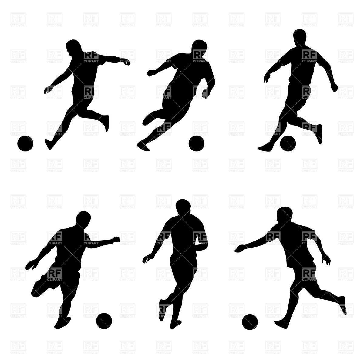 7 Soccer Player Silhouette Vector Images